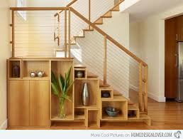 under stairs shelving 15 ideas for space saving under staircase shelves home design lover