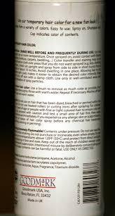 Light Brown Temporary Hair Color Spray Amazon Com Spray On Wash Out Black Hair Color Temporary