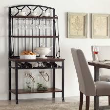 Baker Racks Beautiful White Wood Luxury Design Storage Cd Racks Cabinet