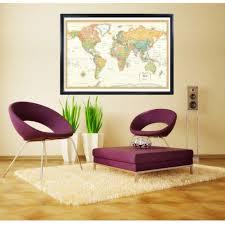 Framed World Map by Rand Mcnally World Classic Framed On Wall Swiftmaps Com