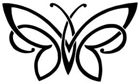 set tribal with butterflies tattoo vector on vectorstock crafts
