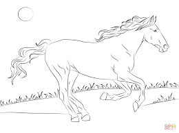white mustang horse beautiful mustang horse coloring page free printable coloring pages