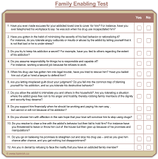 Family Roles In Addiction Worksheets Enabling Test