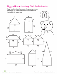printable area worksheets 3rd grade find the perimeter worksheets math and school