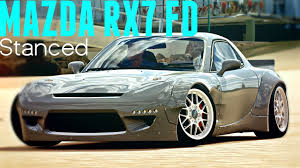 stancenation rx7 rocket bunny mazda rx7 fd stance drift showcase forza horizon