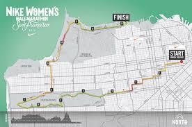 San Francisco Elevation Map Nike Women U0027s Half Marathon Sf Course Training Run Karla Run