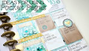 pocket pages how to use happy planner pocket pages