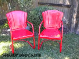 shabby brocante vintage metal lawn chairs