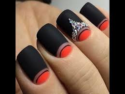 half moon manicure awesome half moon nail art designs youtube