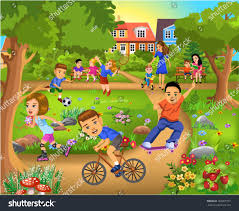 children park stock vector 160907297