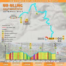 Marathon Route Map by Bir Billing Half Marathon Route Map Categories 21km U0026 10km