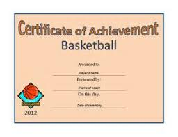 powerpoint basketball certificate template resume samples entry