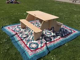 Build A Heavy Duty Picnic Table by Flat Pack Picnic Table From 1 Sheet Of Plywood 8 Steps With