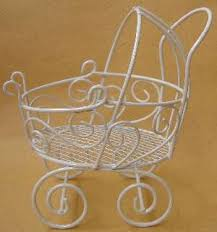 carriage centerpiece 12 lacy wire baby carriage baby buggy table center