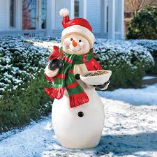 snowman birdfeeder outdoor decoration improvements catalog