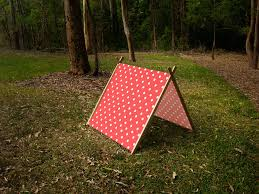 wooden tent a frame play tent made from solid wood and fabric