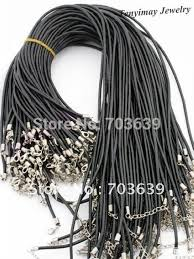 necklace cords with clasp images Wholesale 100pcs lot rubber necklace cords free shipping fashion jpg
