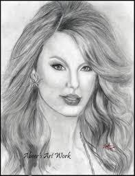 taylor swift pencil sketch sketching by abeer u0027s art work in