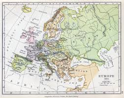 Map Of Europe Political by Detailed Old Political Map Of Europe U2013 1815 Vidiani Com Maps
