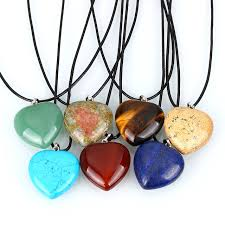 stone pendant leather necklace images Fashion jewelry leather cord necklace tiger eye quartz opal real jpg