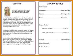 Funeral Programs Wording Sample Program Templates Sample Internship Program Outline