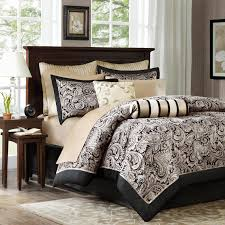 Washer Capacity For Queen Size Comforter Barrett 8 Piece Jacquard Comforter Set By Madison Park Hayneedle