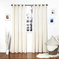 Curtains 46 Inches Long White Linen Curtain Panels Amazon Com