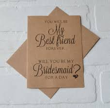 will you be my best you will be my best friend forever bridesmaid card bridesmaid