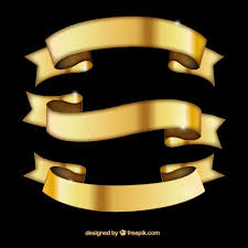 gold ribbons gold ribbons in retro style free vectors ui