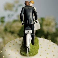 and groom cake toppers bicycle and groom on a bike wedding cake topper