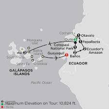 Galapagos Map Ecuador U0026 Galapagos Cruise Cosmos Affordable Tours