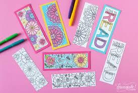 summer coloring bookmarks dawn nicole designs