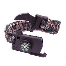 survival bracelet with whistle images 4 in 1 quot compass whistle fire starter paracord bracelet your jpg