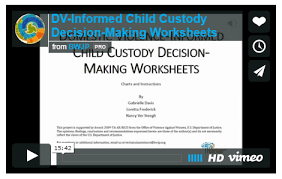 child custody decision making worksheets