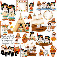 Thanksgiving Pilgrims And Indians Indian Teepee Clip Art 46