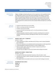 Resume Sample Quality Control by Barista Job Description Resume Samples Free Resume Example And