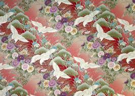 Cherry Blossom Upholstery Fabric Crane Barkcloth Hawaii Fabrics Vintage Style Hawaiian Oriental