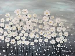 canvas painting ideas for beginners easy flower canvas painting