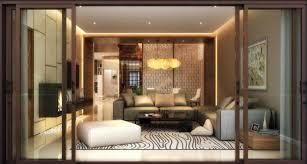 wooden glass sliding doors living room simple brown single chair oak floors glass sliding