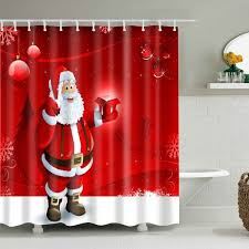 Shower Curtain Prices Santa Christmas Shower Curtain Cheap Shop Fashion Style With Free