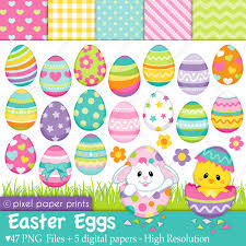 paper easter eggs easter eggs clip and digital paper set