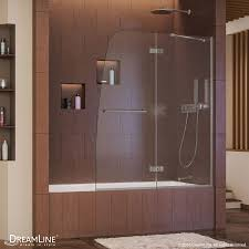 shop bathtub doors at lowes com dreamline aqua ultra 48 in w x 58 in h bathtub door