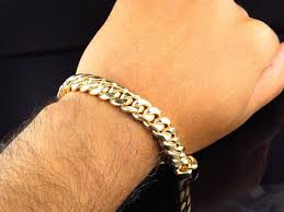 cuban link bracelet men images Men 39 s solid yellow gold 10k miami cuban link 8 5 inch bracelet 11mm jpg
