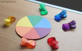 Matching Colors Fine Motor Color Matching Wheel