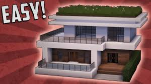 Build Small House by Minecraft How To Build A Small Modern House Tutorial 15