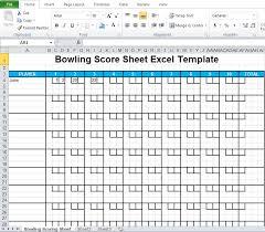 Ten Pin Bowling Sheet Template Bowling Sheet Excel Template Excel Tmp