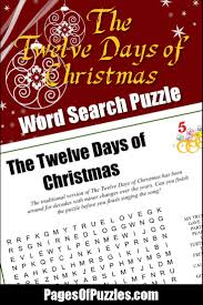 the twelve days of christmas word search u2013 pages of puzzles