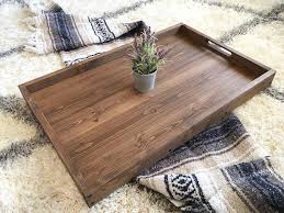 Ottoman Tray Rustic Wooden Ottoman Tray Coffee Table Tray Serving Tray