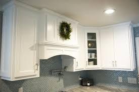 Glass Tile Backsplash With White Cabinets Glass Tile 3 4 Inch Curved Light Blue Glass Subway Tile