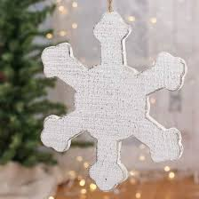 whitewashed wood snowflake ornament ornaments